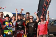 Победители соревнований по кайтингу